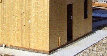 Fondazioni per case in legno: esempio di posa errata