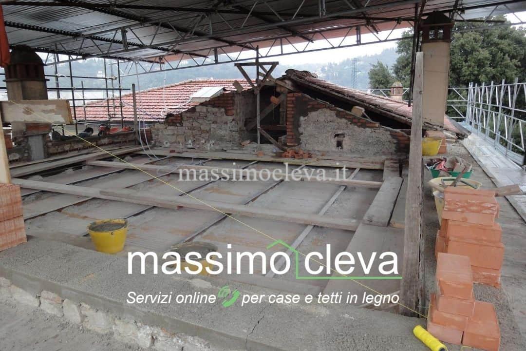 Demolizione tetto da rifare
