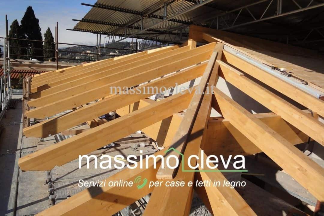 Rifacimento tetto in legno: posa delle strutture portanti