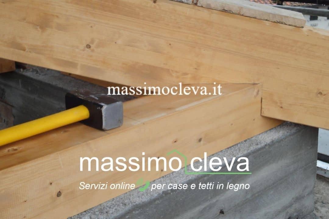 Dettaglio di appoggio delle strutture in legno