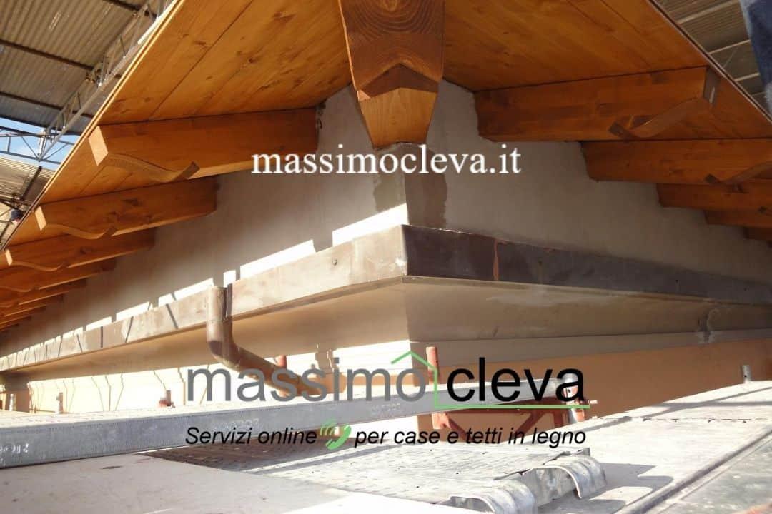 Rifacimento tetto in legno - dettaglio dello sporto