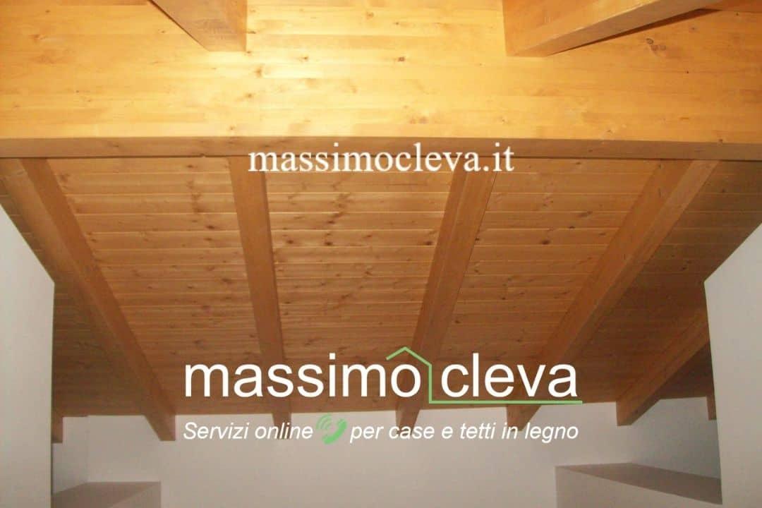 Rifacimento tetto in legno - vista interna strutture