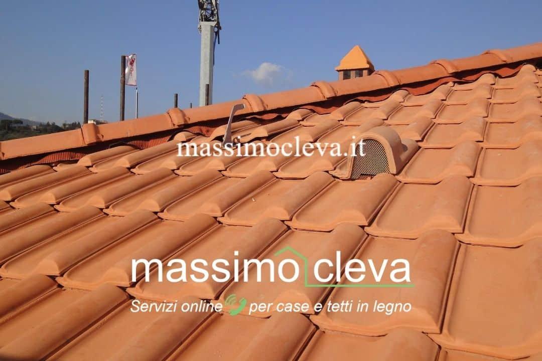 Rifacimento tetto in legno - dettaglio del manto ventilato