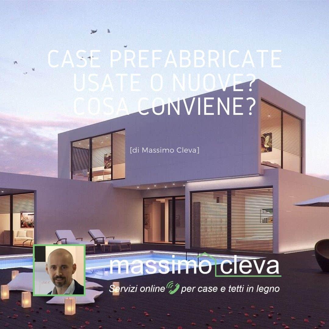 Case prefabbricate usate: esempio di casa con piscina