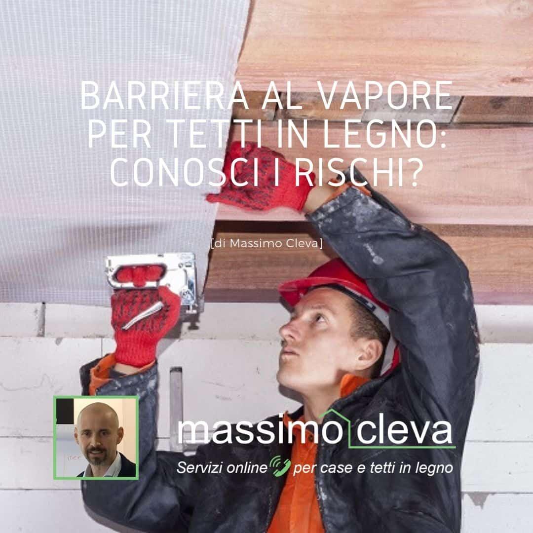 Barriera al vapore per tetti in legno: esempio di applicazione