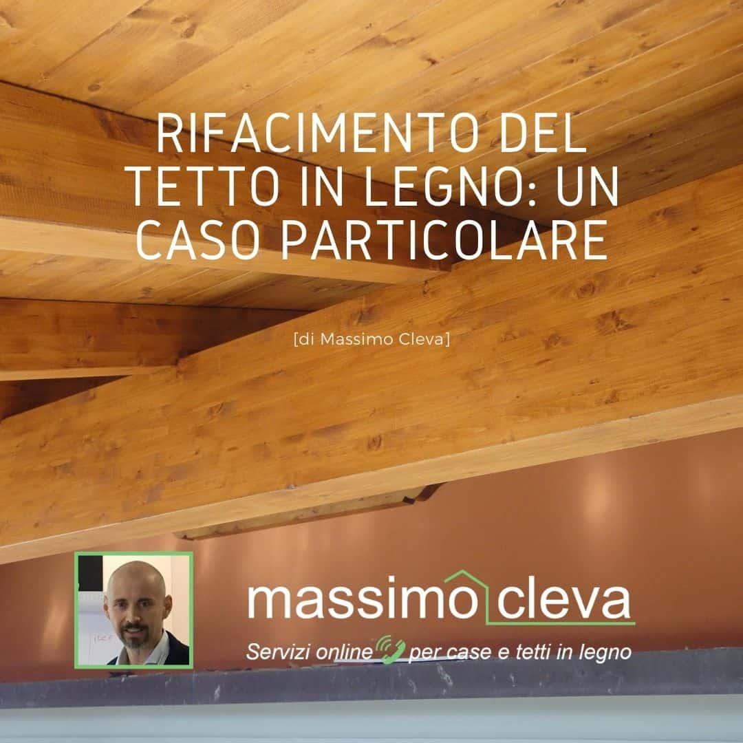 Rifacimento tetto in legno - vista interna