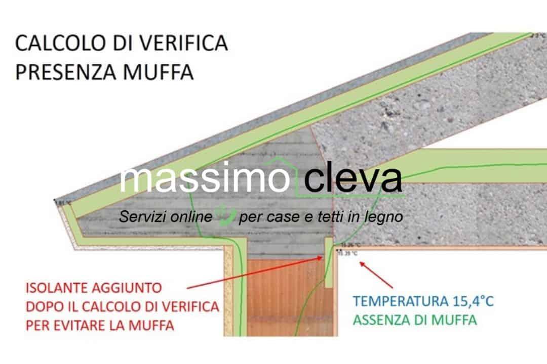 particolare di gronda in cemento armato: verifica termo-igrometrica superata