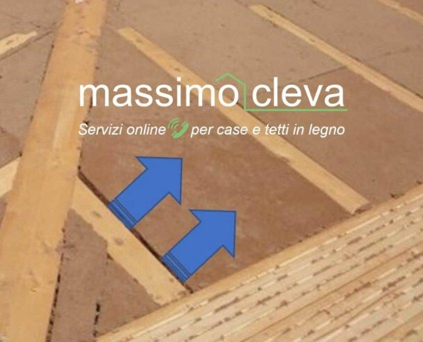 tetto coibentato in legno con difetto di posa dell'isolante