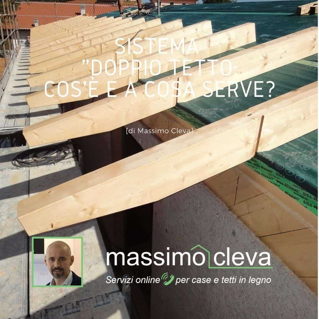 """Sistema tetto """"doppio"""" per tetti in legno: esempio di posa"""