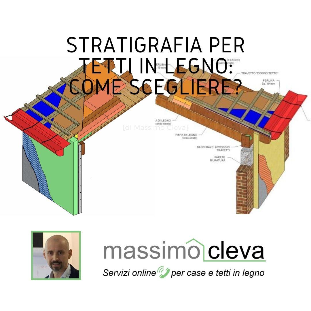 stratigrafia tetto in legno: schema grafico