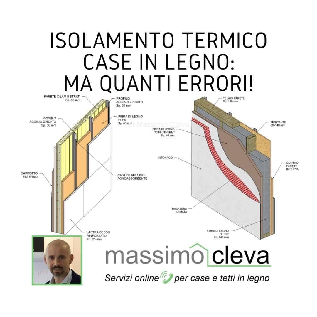 Isolamento termico case in legno - schemi e stratigrafie